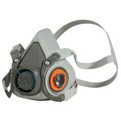 3M Half Facepiece Reusable Respirator 6100, Respiratory Protection, Small
