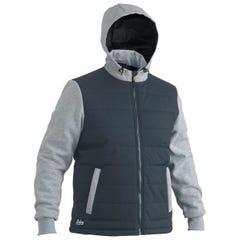 Bisley Flex & Move Contrast Puffer Fleece Hoodie - Charcoal