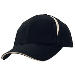 Headwear Stockists Brushed Heavy Cotton with Crown Inserts & Sandwich Navy/White