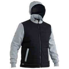 Bisley Flex & Move Contrast Puffer Fleece Hoodie - Black