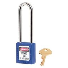 Master Lock  Zenex Thermoplastic Safety Padlocks Extra Length Shackle Bue 76m x 6mm