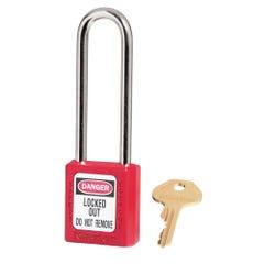 Master Lock  Zenex Thermoplastic Safety Padlocks Extra Length Shackle Red 76m x 6mm