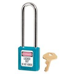 Master Lock  Zenex Thermoplastic Safety Padlocks Extra Length Shackle Teal 76m x 6mm