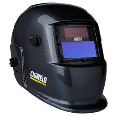 Cigweld WeldSkill Auto-Darkening Helmet - Carbon Fibre