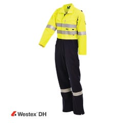 Workit FR PPE2 WESTEX DH Inherent 220gsm Vented Taped Coverall - Yellow / Navy