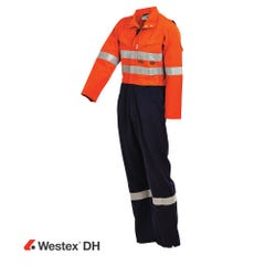 Workit FR PPE2 WESTEX DH Inherent 220gsm Vented Taped Coverall - Orange / Navy