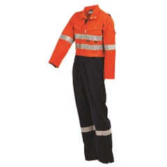 Workit FR PPE2 FLAREX Inherent 215gsm Vented Taped Coverall - Orange / Navy