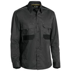 Bisley Flex & Move Mechanical Stretch Shirt - Long Sleeve - Charcoal