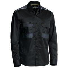 Bisley Flex & Move Mechanical Stretch Shirt - Long Sleeve - Black