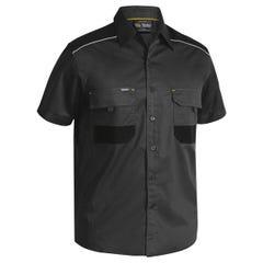 Bisley Flex & Move Mechanical Stretch Shirt - Short Sleeve - Charcoal
