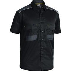 Bisley Flex & Move Mechanical Stretch Shirt - Short Sleeve - Black
