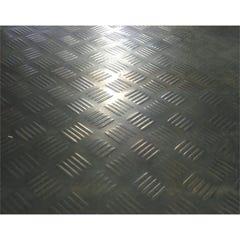 Ideal Black Check Plate Rubber Matting Sheet 1m