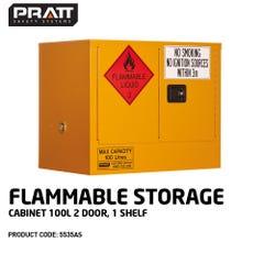 Pratt Flammable Storage Cabinet 100L 2 Door, 1 Shelf