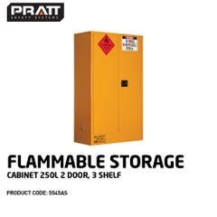 Pratt Flammable Storage Cabinet 250L 2 Door, 3 Shelf