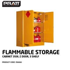 Pratt Flammable Storage Cabinet 350L 2 Door, 3 Shelf