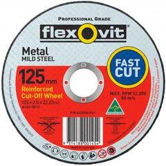 Flexovit Cut-off Wheel General Purpose Metal Type 41 AO 125mm x 2.5mm x 22.23mm