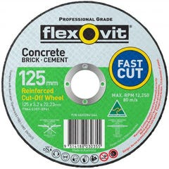 Flexovit Cut-off Wheel Masonry Type 41 CA 125mm x 3.2mm x 22.23mm