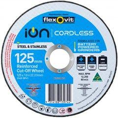 Flexovit Cut-off Wheel Ion Cordless Inox Ultra Thin Type 41 ZA 125mm x 1mm x 22.23mm