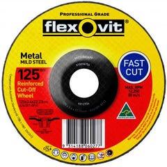 Flexovit Cut-off Wheel General Purpose Metal 115mm x 3.4mm x 22.23mm