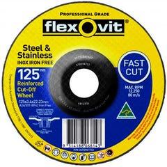 Flexovit Cut-off Wheel Iron Free Metal 125mm x 3.4mm x 22.23mm