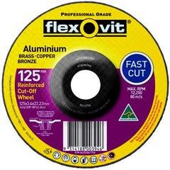 Flexovit Cut-off Wheel Aluminium 125mm x 3.4mm x 22.23mm