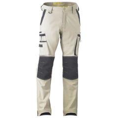 Bisley Flex & Move Stretch Utility Zip Cargo Pant - Stone