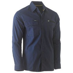 Bisley Flex & Move Utility Work Shirt - Long Sleeve - Navy