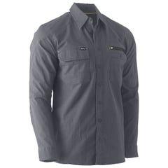 Bisley Flex & Move Utility Work Shirt - Long Sleeve - Charcoal
