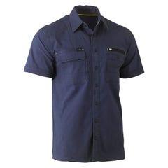 Bisley Flex & Move Utility Work Shirt - Short Sleeve - Navy