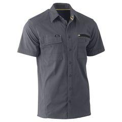 Bisley Flex & Move Utility Work Shirt - Short Sleeve - Charcoal