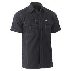 Bisley Flex & Move Utility Work Shirt - Short Sleeve - Black