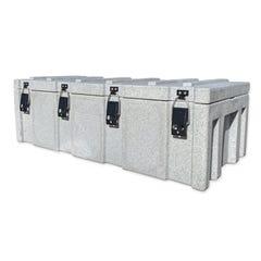 Rhino White Cargo Case 1200 x 550 x 400mm