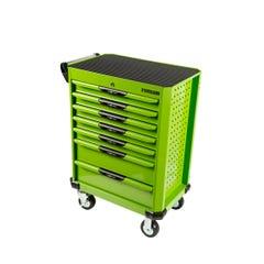 Typhoon 7 Drawer Roller Cabinet Green - Series 2