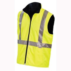 Workit Hi-Vis Reversible Vest with Reflective Tape - Yellow / Navy