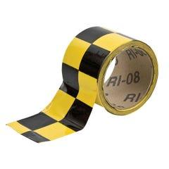 Brady Warning Stripe & Check Tape 50 mm