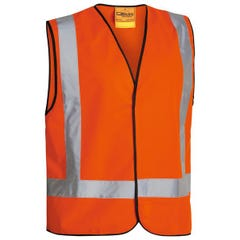 Bisley X Taped Hi Vis Vest - Orange