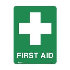 Brady Emergency Information Sign - First Aid H450mm x W300mm