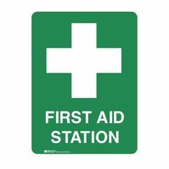 Brady Emergency Information Sign - First Aid Station H450mm x W300mm