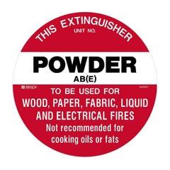 Brady Fire Disc - Powder AB(E), 200mm Diameter