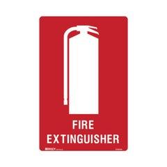 Brady Fire Equipment Sign - Fire Extinguisher, 300mm x 225mm