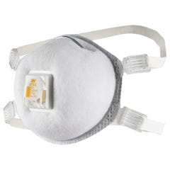 3M Cupped Particulate Welding Respirator P2, with Nuisance Level* Organic Vapour Relief, valved (Qty x 10)