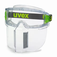 uvex ultrashield Safety Goggles with Lower Faceguard Clear Open Cell Foam Vented