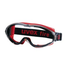 uvex ultrasonic Fire Safety Goggles Type 1 Clear Top & Bottom Vents Reduced /