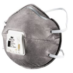3M Cupped Particulate Respirator GP1 with Nuisance Level* Organic Vapour Relief, valved (Qty x 10)
