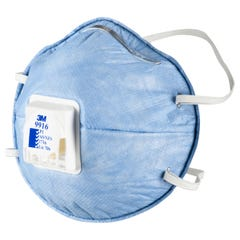 3M Cupped Particulate Respirator P1 with Nuisance Level* Acid Gas Relief, valved (Qty x 10)