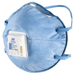 3M Cupped Particulate Respirator 9926, P2 with Nuisance Level* Acid Gas Relief, valved