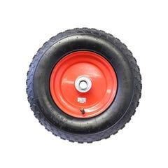 "Easyroll Pneumatic Wheel Red Steel Centre, 1"" Ball Bear""g, 4 x 8"""
