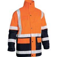 Bisley 5 In 1 Rain Jacket - Orange / Navy