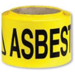Accumax Barrier Tape Caution Asbestos Dust Hazard Black/Yellow