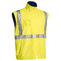 Bisley Hi Vis Wet Weather Vest - Yellow